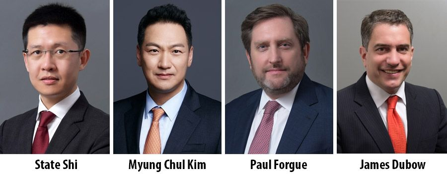 State Shi, Myung Chul Kim, Paul Forgue, James Dubow