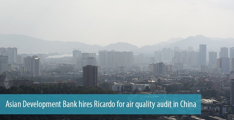 Asian Development Bank hires Ricardo for air quality audit in China
