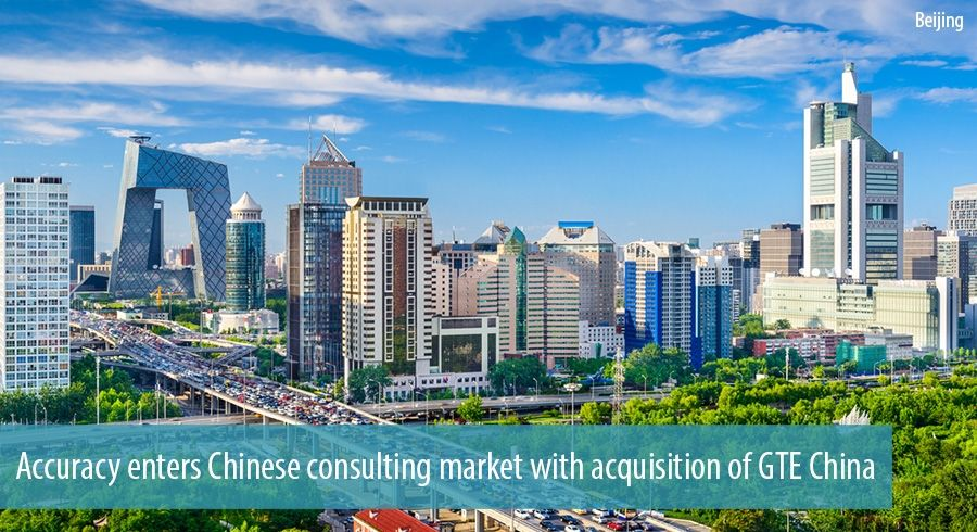 Accuracy enters Chinese consulting market with acquisition of GTE China