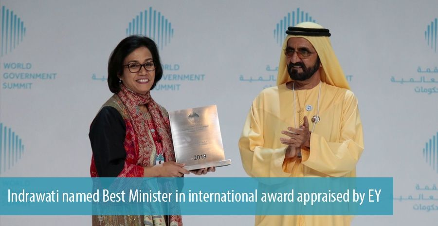 Indrawati named Best Minister in international award appraised by EY