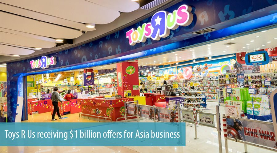 Toys R Us receiving $1 billion offers for Asia business
