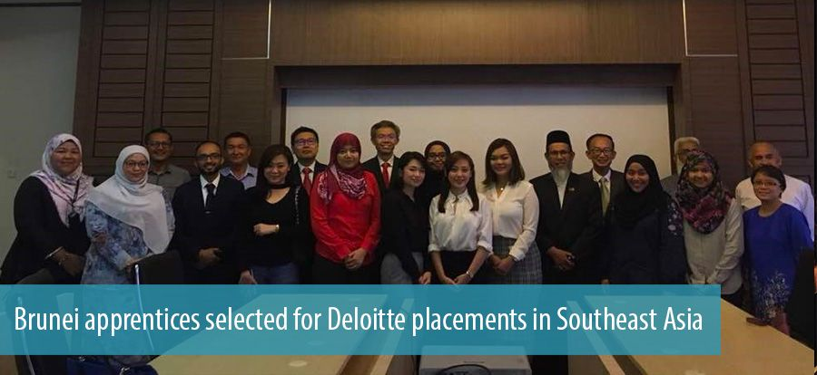 Brunei apprentices selected for Deloitte placements in Southeast Asia