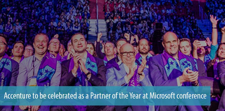 Accenture to be celebrated as a Partner of the Year at Microsoft conference
