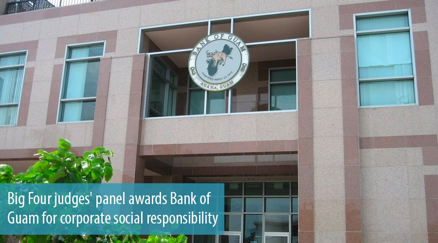 Big Four judges' panel awards Bank of Guam for corporate social responsibility