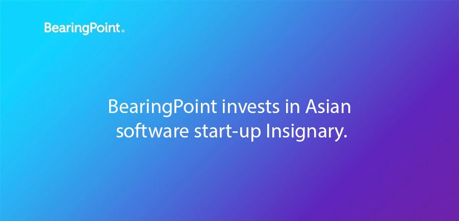 BearingPoint invests in Asian software start-up Insignary