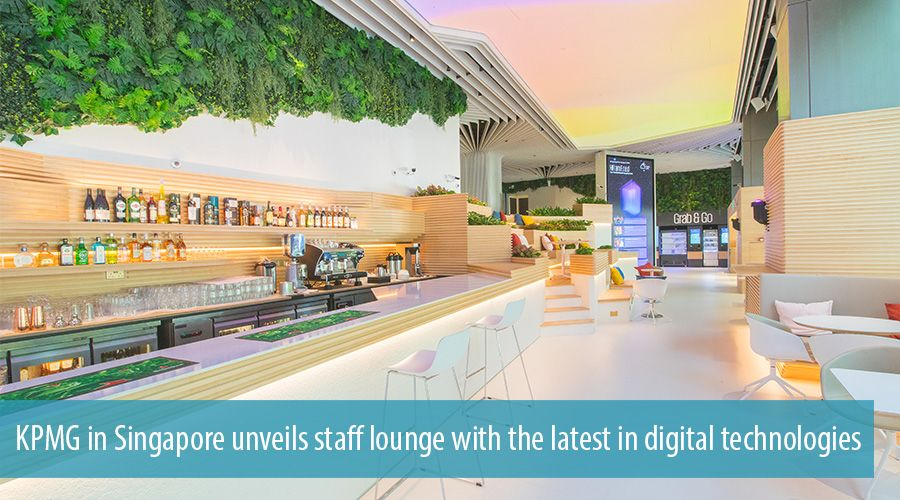 KPMG in Singapore unveils staff lounge with the latest in digital technologies