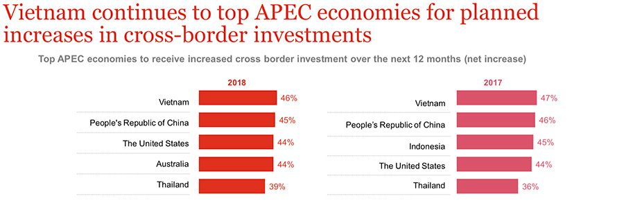 Top five countries for APEC cross-border investment 2019