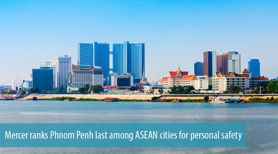 Mercer ranks Phnom Penh last among ASEAN cities for personal safety