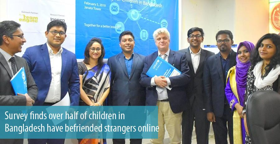 Survey finds over half of children in Bangladesh have befriended strangers online