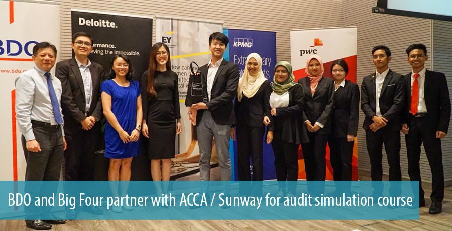BDO and Big Four partner with ACCA / Sunway for audit