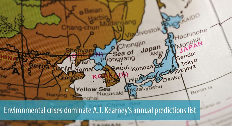Environmental crises dominate A.T. Kearney's annual predictions list