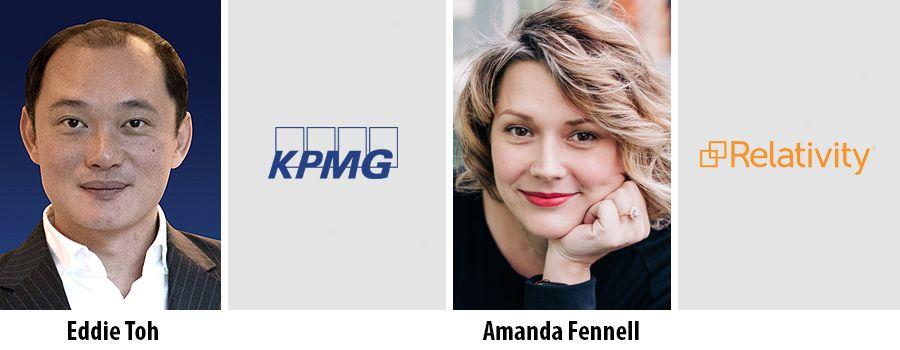 Eddie Toh, KPMG and Amanda Fennell, Relativity