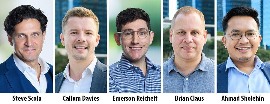 Steve Scola, Callum Davies, Emerson Reichelt, Brian Claus and Ahmad Sholehin - AWS