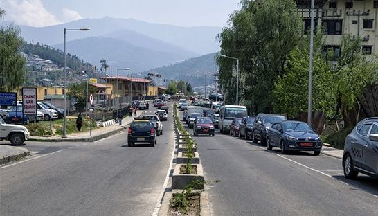 Vehicular carbon emissions in Bhutan could triple by 2030