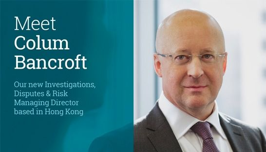 Colum Bancroft joins AlixPartners as a Managing Director in Hong Kong