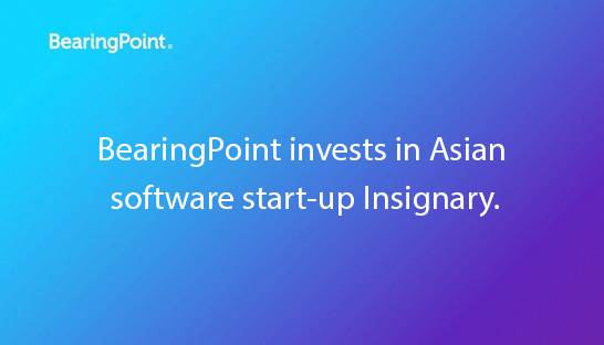 BearingPoint invests in South Korea based software start-up Insignary