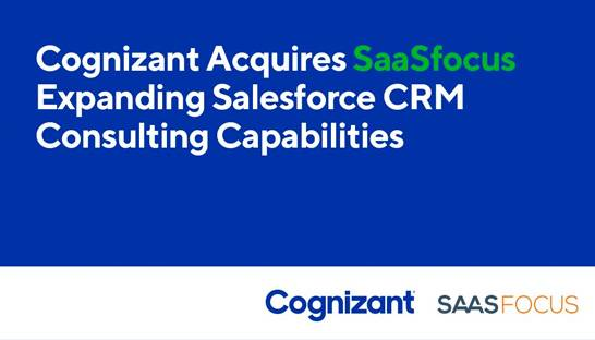 Cognizant acquires Asia Pacific Salesforce consulting specialist SaaSfocus
