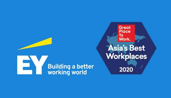 Ernst & Young named on Great Place to Work list as a top employer in Asia
