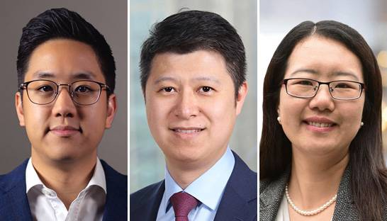 James Yang, Ping Yi and Simon Sun join Bain's Greater China partner team
